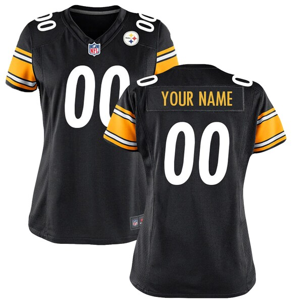 Women's Pittsburgh Steelers Nike Black Customized  pullover football jersey nfl